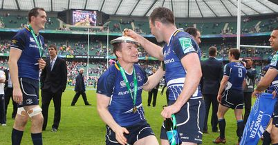 O'Driscoll: Celebrates Leinster's success