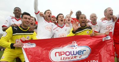 Crawley: Celebrate promotion from League Two