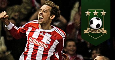 Crouch: Scoops the TEAMtalk Soccers Goal of Season award