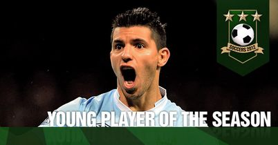 Aguero: Scoops his second TEAMtalk Soccers award