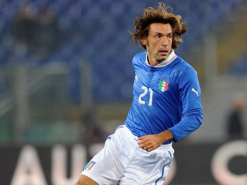 Andrea Pirlo: Acknowledged as Italy's danger man