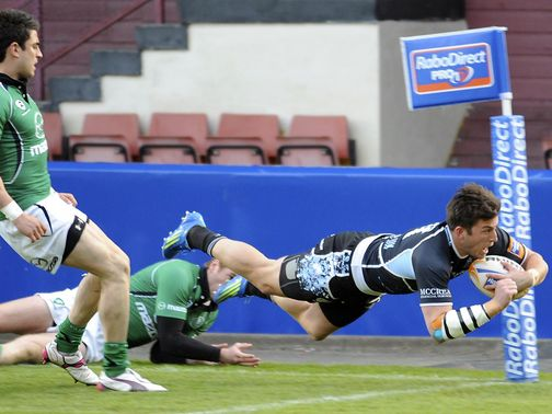 DTH van der Merwe: Crossed twice for Glasgow