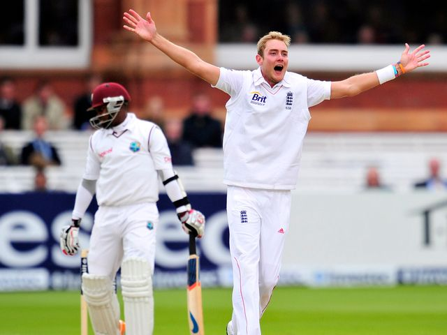 Broad: Helped put England just on top
