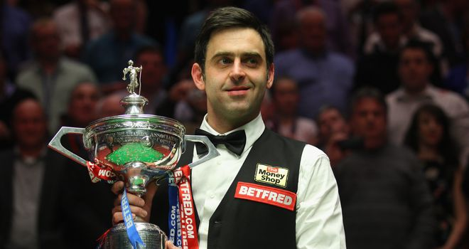 Ronnie O'Sullivan: Won his fourth World Championship title on Monday night