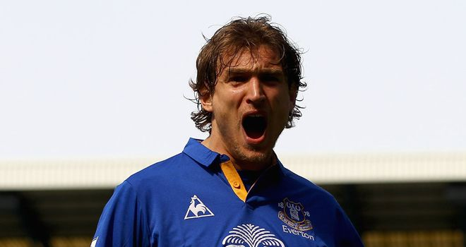 Nikica Jelavic: Has raised the game of everyone at Everton, according to David Moyes