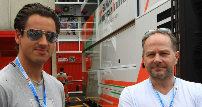 Adrian Sutil: Has made several appearances in the Force India motorhome this season