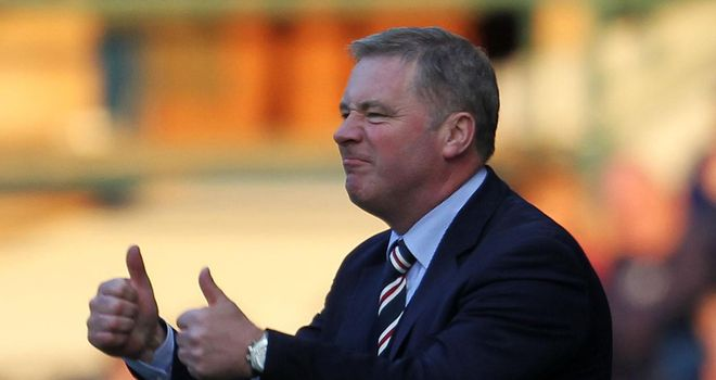 Ally McCoist: Thinks his players should not be overlooked just because they are in the Third Division