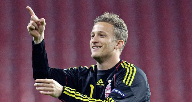 Anders Lindegaard: Will be given a chance between the sticks at United