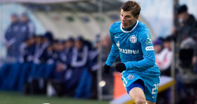 Andrey Arshavin: The Arsenal man has found a new lease of life since returning on loan to Zenit St Petersburg