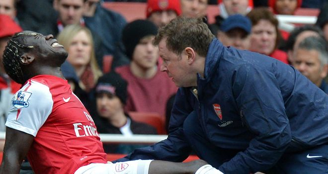 Bacary Sagna: Expected to be sidelined for up to three months after breaking his leg