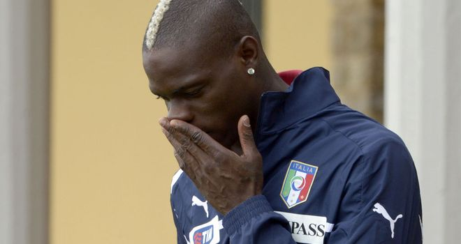 Mario Balotelli: Says he will walk off if racially abused at Euros
