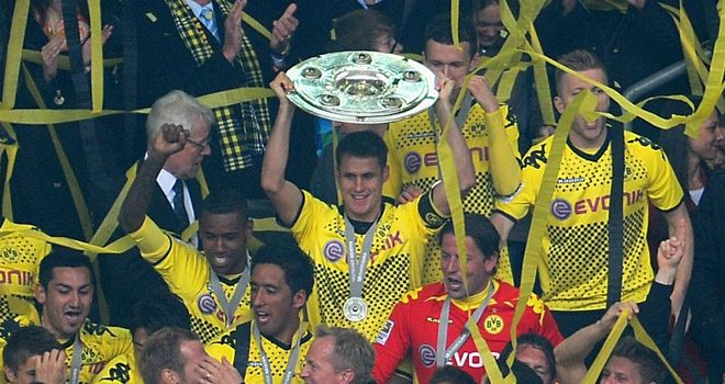Borussia Dortmund got their hands on the Bundesliga title on Saturday