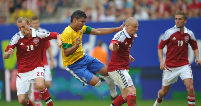 Brazil were just too good for Denmark, winning 3-1 in Hamburg