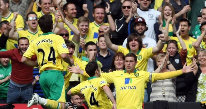 Grant Holt: The in-form striker opened the scoring for Norwich at Carrow Road