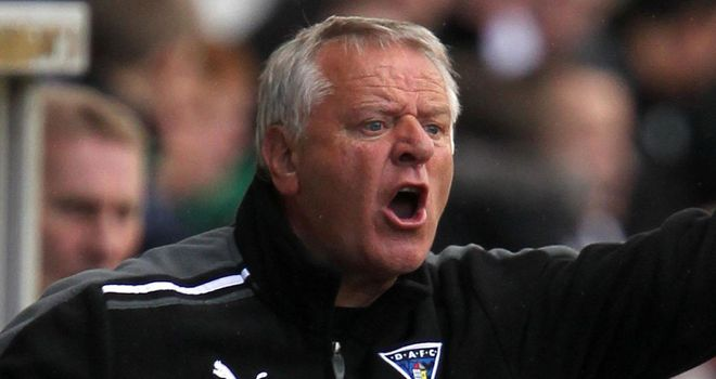 Some rare cheer for Dunfermline boss Jim Jefferies whose players secured a point