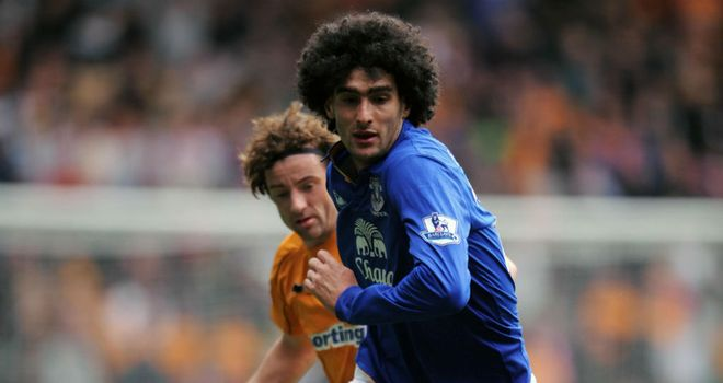 Marouane Fellaini: Belgium international midfielder is happy at Everton