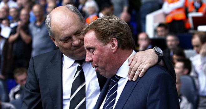 Harry Redknapp and Martin Jol at White Hart Lane