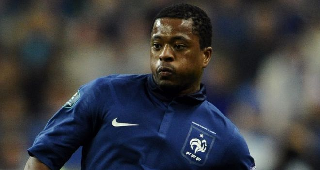 Patrice Evra: Believes England are the team who 'really want to beat' France