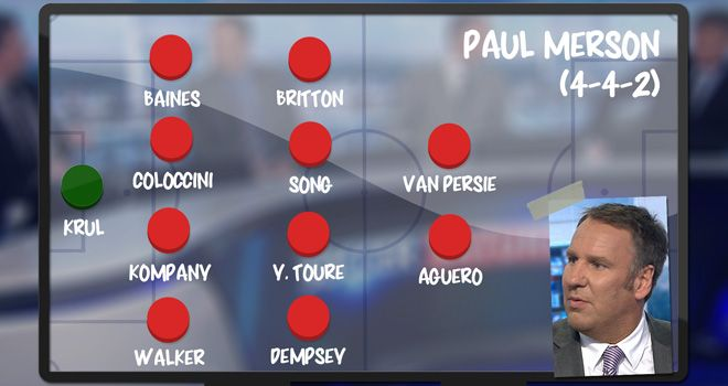 Merson: named his Premier League XI