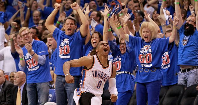 Russell Westbrook: Scored 28 points for Oklahoma City