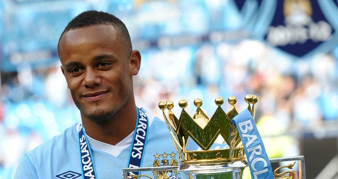 Vincent Kompany: Believes he thrives on the responsibility of leading City and has committed his long-term future to the club