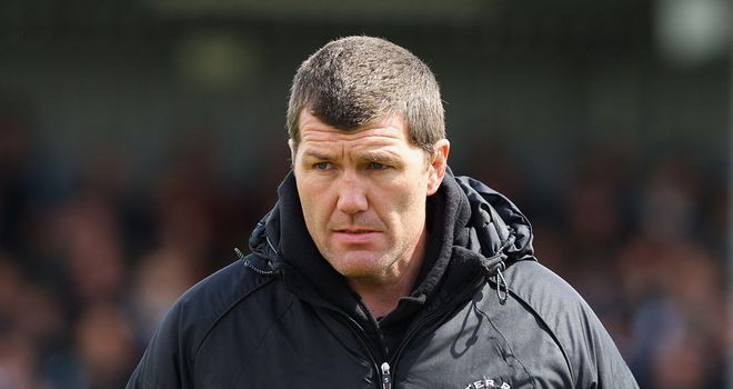 Rob Baxter: Relieved to win at Madejski