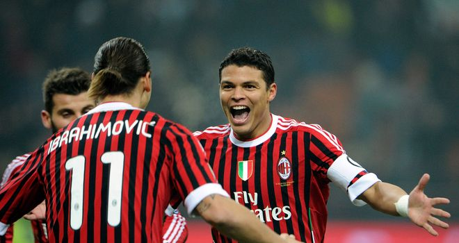 Thiago Silva: Defender joined Zlatan Ibrahimovic in swapping AC Milan for Paris St Germain