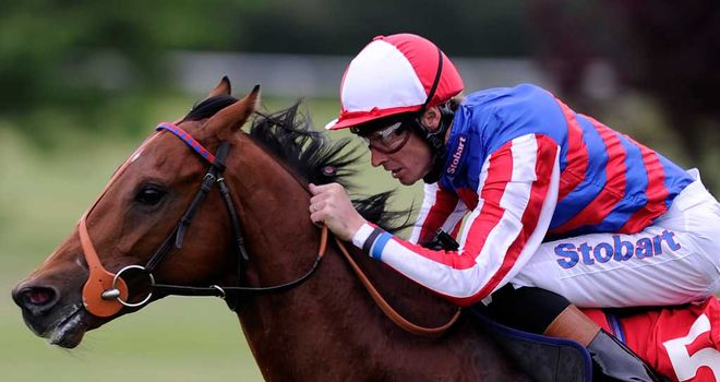 Sir Prancealot: Quickened up well to win the Flying Childers