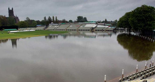 Worcestershire forced to change plans following New Road flooding