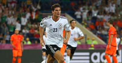 Gomez: Celebrates one of his goals for Germany