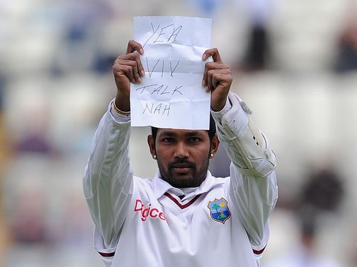 Ramdin's celebration cost him
