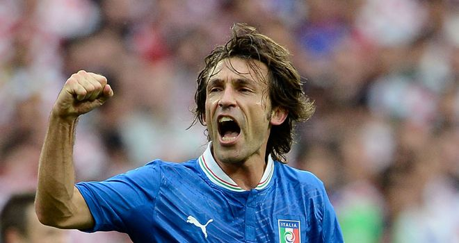 Andrea Pirlo: Shone for Italy at Euro 2012