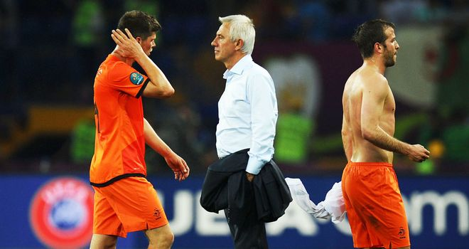 Bert van Marwijk: Netherlands coach rued missed chances after the 1-0 defeat by Denmark