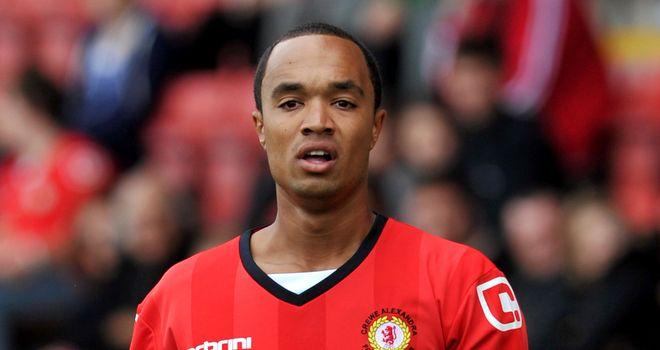 Byron Moore: On the scoresheet for Crewe