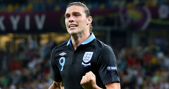 Andy Carroll: England striker is feeling confident after opening the scoring in the 3-2 win over Sweden
