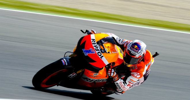 Casey Stoner: On pole at the Circuit de Catalunya