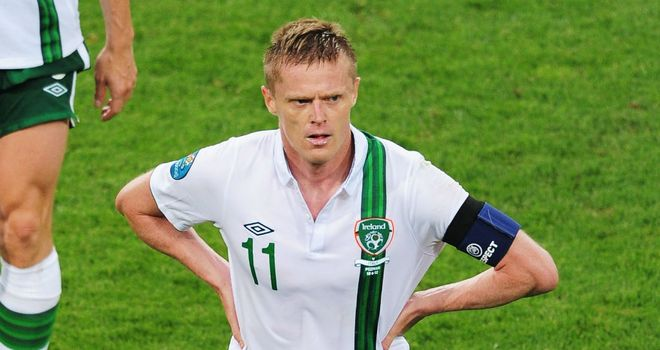 Damien Duff: Recently called time on his international career with Ireland