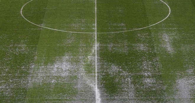 Bramall Lane: Waterlogged pitch