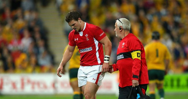 George North: Helped off in the first Test defeat to Australia