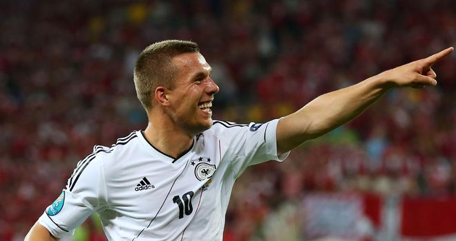 Lukas Podolski: Insists it is time for Germany to finally beat Italy again at a major tournament and reach the final of Euro 2012