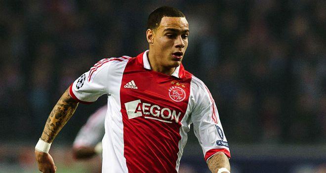 Gregory van der Wiel: On the mark for Ajax in their draw with AZ Alkmaar