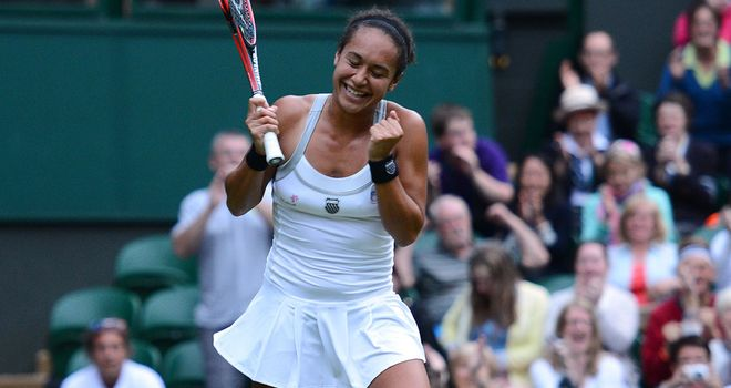 Heather Watson: Was not intimidated by Centre Court date