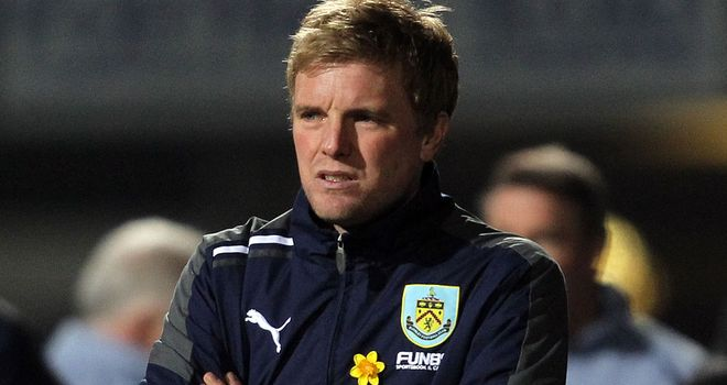 Eddie Howe: Burnley boss watched his side lose out to Brighton