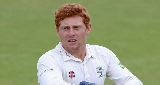 Jonny Bairstow: now back wearing the gloves again in domestic action for Yorkshire
