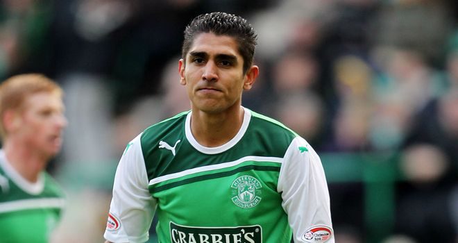 Jorge Claros: Hibernian are hoping to tie up a permanent deal