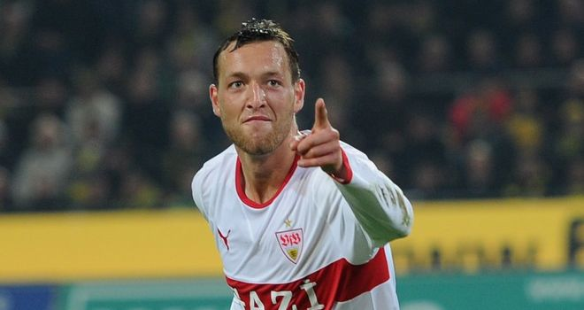 Julian Schieber: The striker apologised to Stuttgart fans after leaving the club in a money-spinning move to Bundesliga giants Borussia Dortmund
