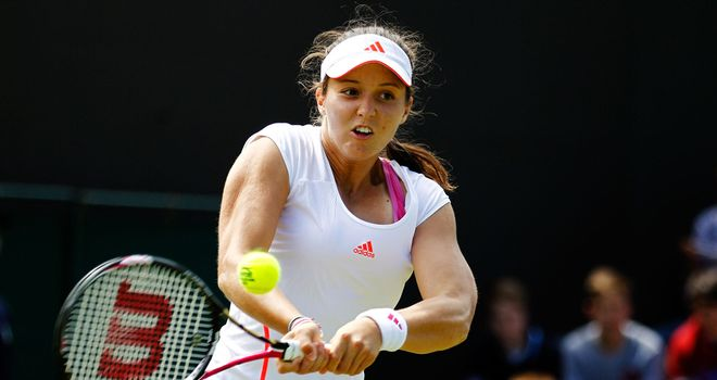 Laura Robson: Eased into second round of the Italiacom Open in Palermo