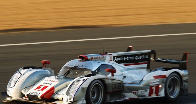 The winning Audi of Marcel Fassler, Andre Lotterer and Benoit Treluyer