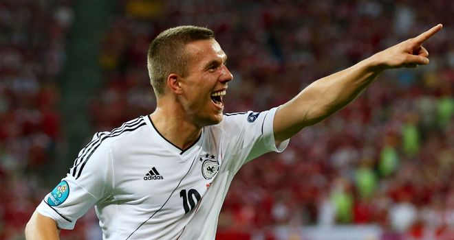 Lukas Podolski: Germany striker confident of success if they face England in semi-finals