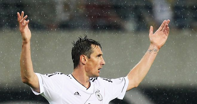 Miroslav Klose: Thrilled to net his 64th international goal in the win over Greece